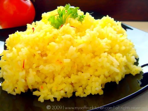 Saffron Rice | Healthy Eating | Pinterest