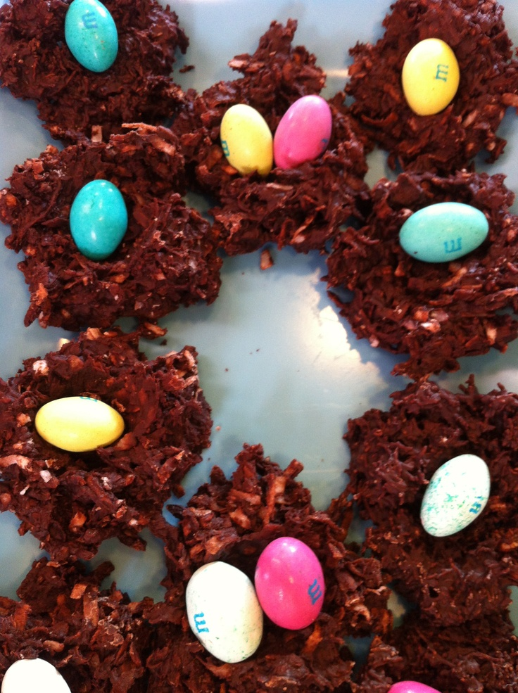 Coconut Chocolate Nests with Eggs | Totally Crazy/ Cool Kitchen Ideas ...
