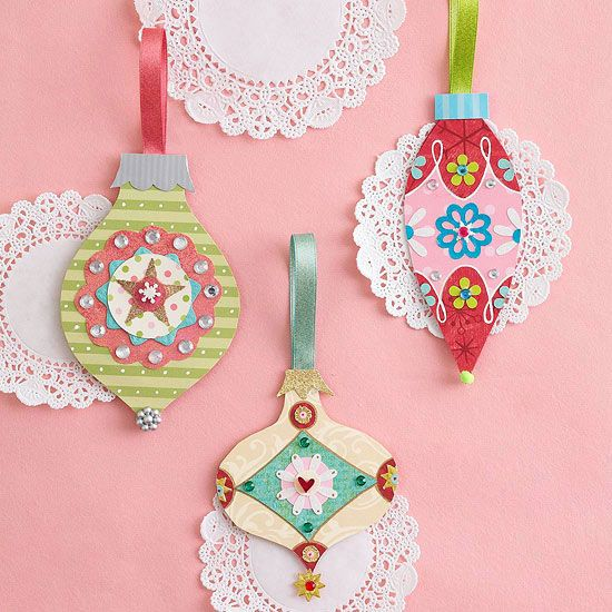 Christmas in July --- Pretty Patterned Paper Ornaments 64857ac953160000c937e582ad64654b