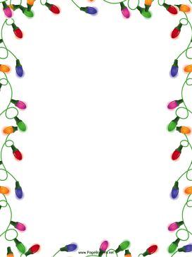 Holiday Borders For Word Documents | Christmas Lights Christmas Border ...