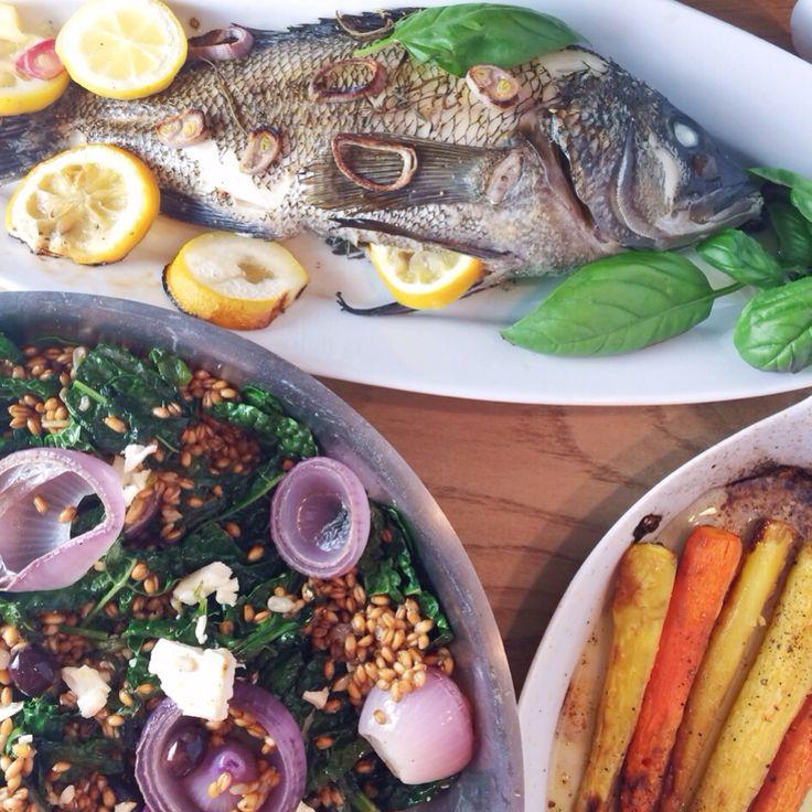 ... Salad {#Kale, Roasted Mushrooms & Onions, Olives, Wheat berries, Feta