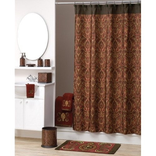 Decorative Shower Curtain Rings Brown Fabric Shower Curtains