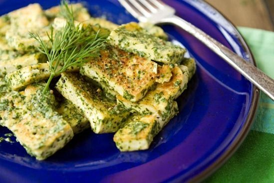 tofu halibut with lemon butter caper and dill sauce easy baked tofu ...