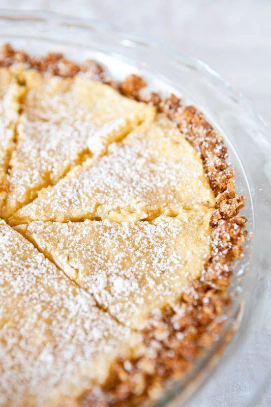 crack pie with oat cookie crust -yum!