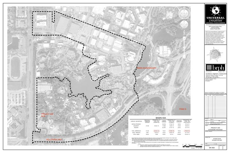 Universal Studios Project 340 location, from the South Florida Water Management District