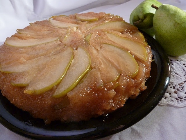 Pear Upside Down Cake | Foodie Friday | Pinterest