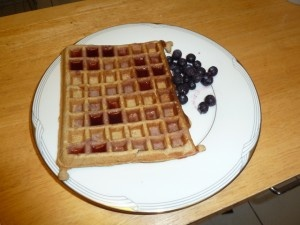 almond flour waffles. It may have been because I ran out of almond ...