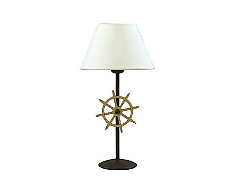 table lamp by beach house a nautical bedroom project. Black Bedroom Furniture Sets. Home Design Ideas