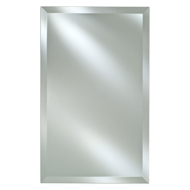 Radiance Frameless Rectangle Vanity Wall Mirror 16 X 26 Would Leave