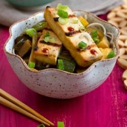 Grilled Tofu with Summer Squash and Soba Noodles {recipe}