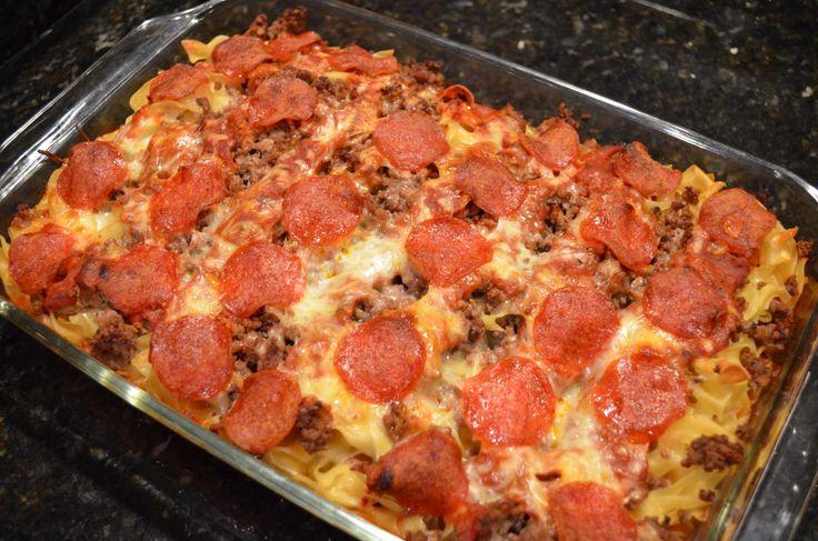Pepperoni Pizza Casserole | recipes | Pinterest