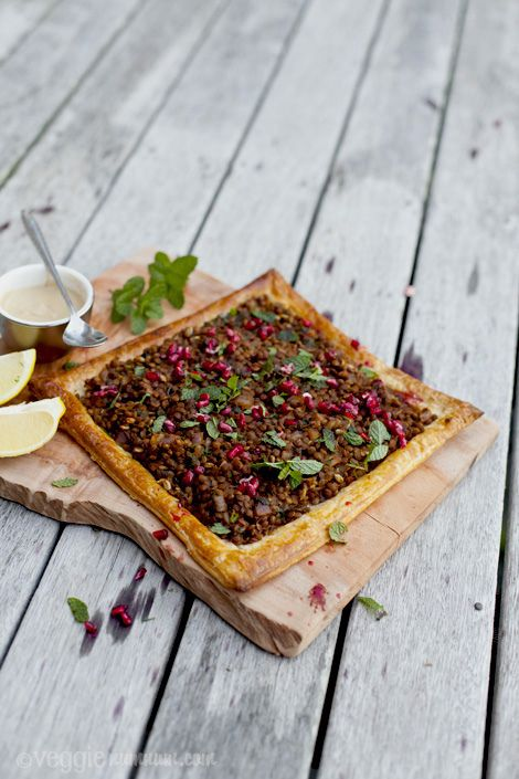 Spicy Lentil Tart w/Pomegranate & Mint (i've been looking for ...