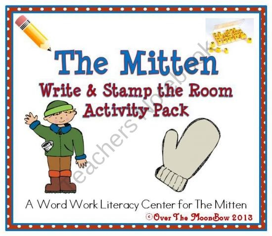 The Mitten Write / Stamp the Room Activity Pack product from overthemoonbow on TeachersNotebook.com