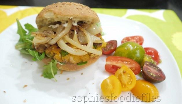 vegan amp gluten free sweet potato new peas amp smoked tofu burgers