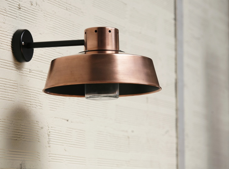 Industrial copper wall light. Dream Home Pinterest
