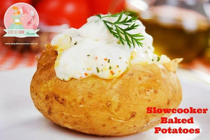 Slow cooker baked potatoes | crock pot | Pinterest