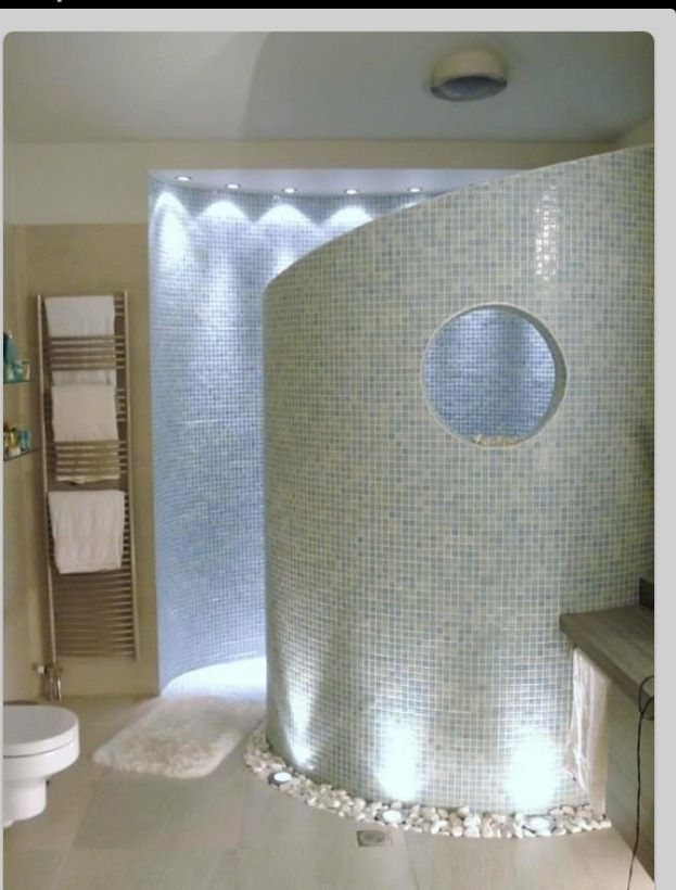 Amazing Walk In Shower With River Rocks Dream House