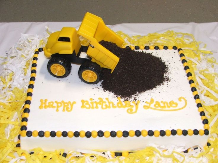 dump truck birthday cake Birthday party ideas Pinterest