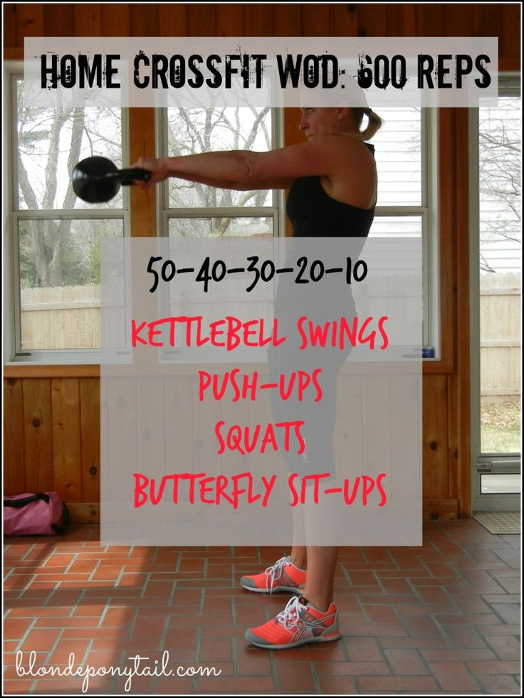 Home CrossFit WOD: 600 Reps - Blonde Ponytail @jsca Ponytail