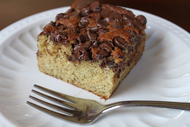 Banana Chocolate Chip Snack Cake | Someone's in the Kitchen | Pintere ...