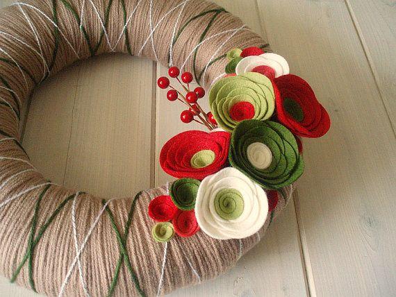 Yarn Christmas wreath!