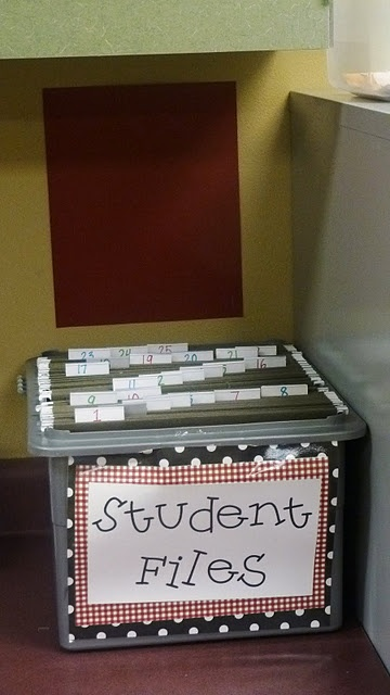 Filing system for student work