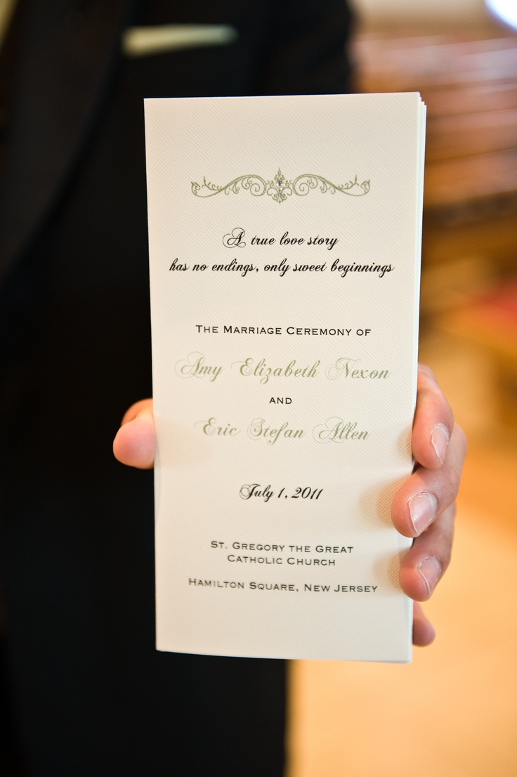 church programs My Wedding