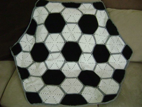 Soccer Ball Knitting Pattern : Pin by Kim Girton on Crochet Blankets Pinterest