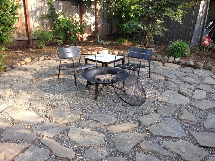 Pin by jeremy on yard pinterest for Gravel fire pit area