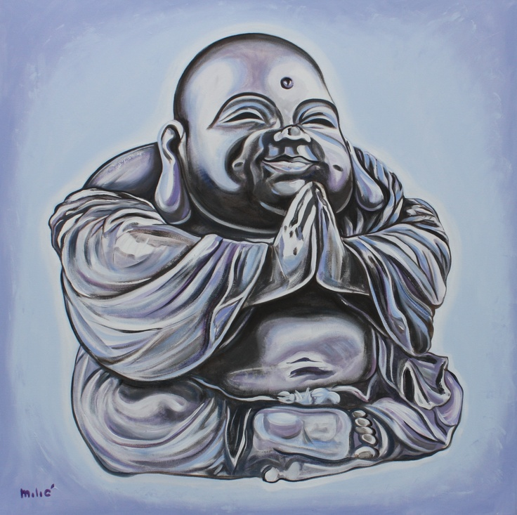 laughing buddha drawing - photo #12