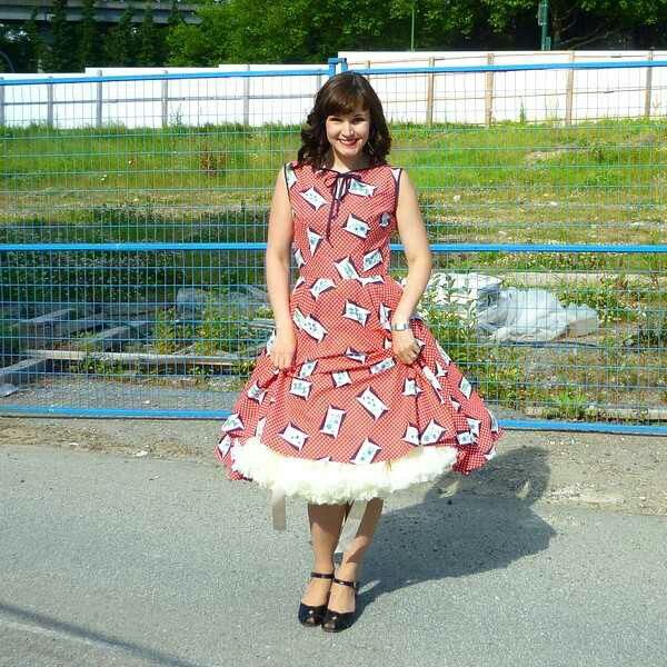 Cute dress with petticoat | Petticoats, Polka Dots, and Picnics | Pin ...