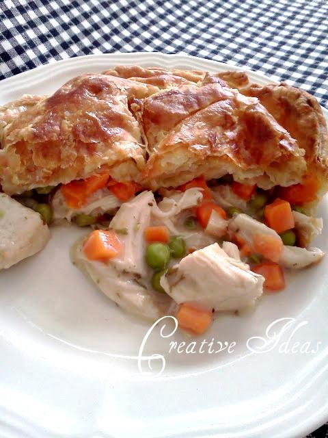 Creative Ideas Puff Pastry Chicken Pot pie