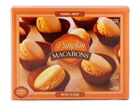 Pumpkin Macarons | Trader Joe Products & Recipes | Pinterest