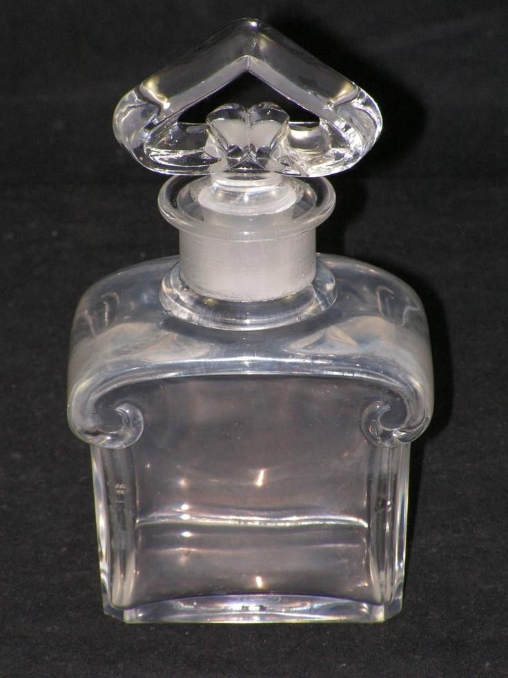 1919 CRISTAL NANCY FRANCE BOTTLE W/ STOPPER FRENCH CRYSTAL PERFUME BOTTLE