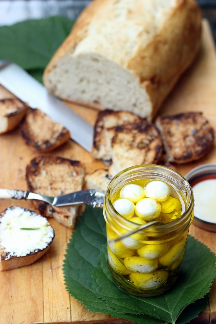 Marinated goat cheese | Cheese Course | Pinterest