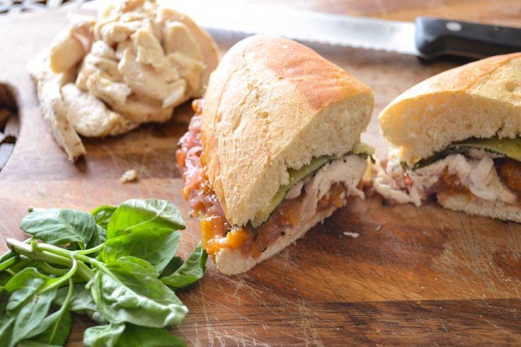 Chicken, Basil, & Havarti Sandwiches with Peach Ginger Chutney | Reci ...