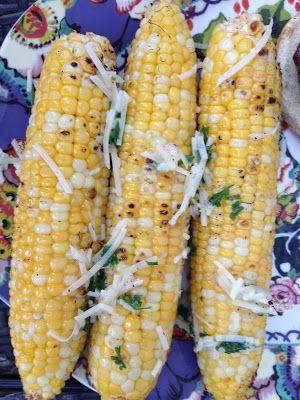 Parmesan Garlic Grilled Corn #littlecookinthebigcity