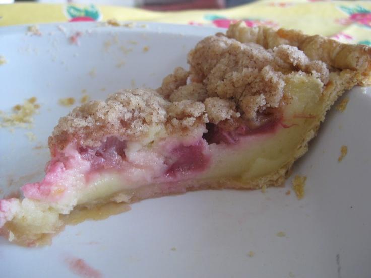 The Pie Experiment: sour cream rhubarb
