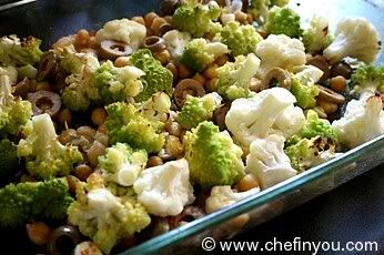 Roasted Romanesco Broccoli Recipe | Cauliflower with Chickpeas and ...