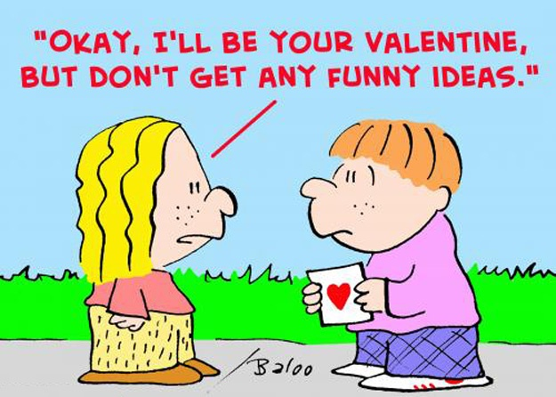 valentine cartoon coloring pages