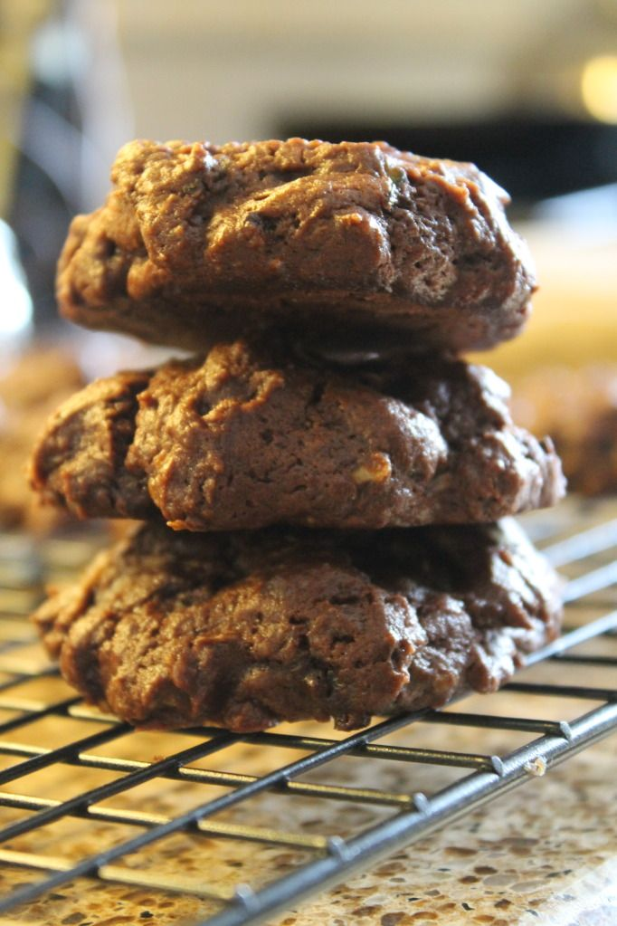 Chocolate Fudge Zucchini Cookies. Replaced the butter with apple sauce ...