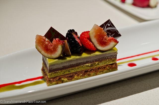 Green Tea Opera Cake from Minam | Food: Sweet Temptation | Pinterest