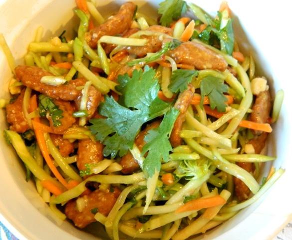 slaw - broccoli carrot, cabbage slaw, Trader Joe's Spicy Asian peanut ...