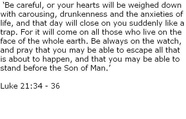 luke 21:34-36