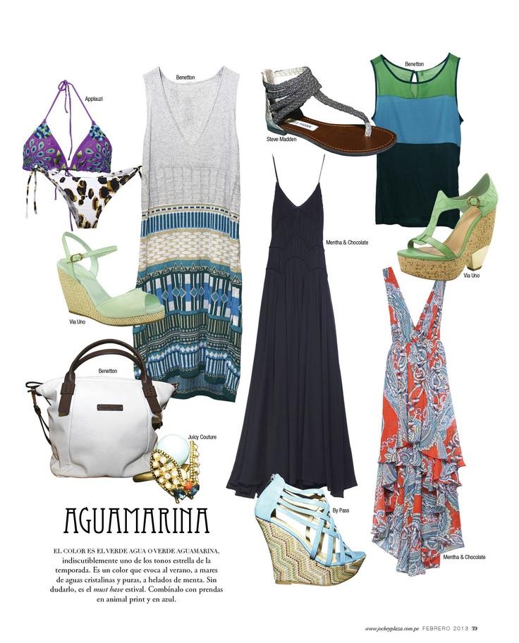 Aguamarina - Revista J #Trends #Fashion #Blue #JockeyPlaza #Summer #dress #Bikini #Wedges