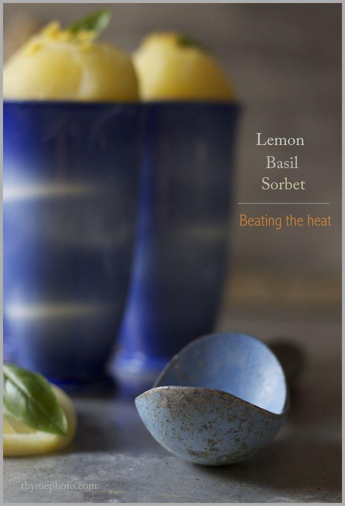 Lemon Basil Sorbet | Recipes to try | Pinterest