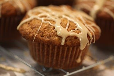 Banana Nut muffins with maple syrup glaze. use for those over ripe ...