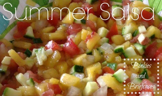 Summer Peach Salsa Recipe @Stephanie Close Giese