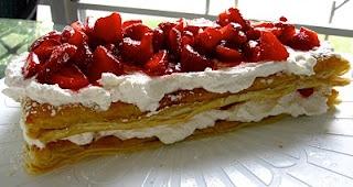 Strawberry Millefeuille | Strawberries | Pinterest
