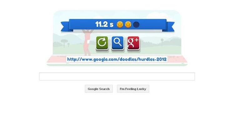 Elise has been playing Google Doodle Hurdles all day! She's currently in Gold medal position...